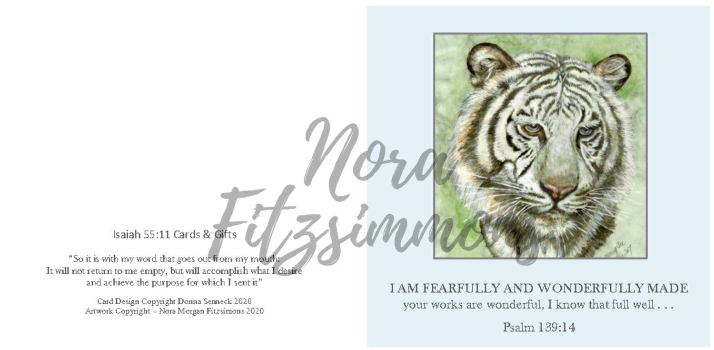 Fearfully And Wonderfully Made Tiger Sad 2 - Faith Card