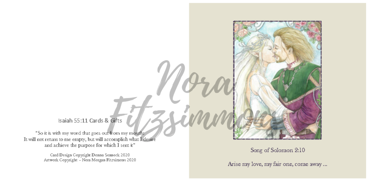 Arise My Love - Faith Card