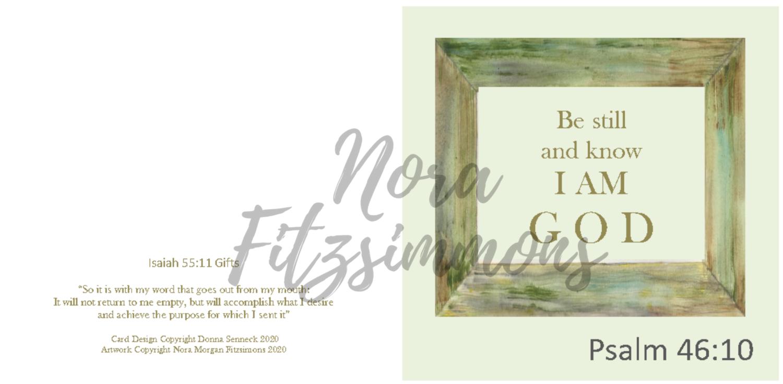 Be Still And Know That I Am God - Faith Card