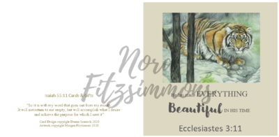 Beautiful In His Time Tiger - Faith Card