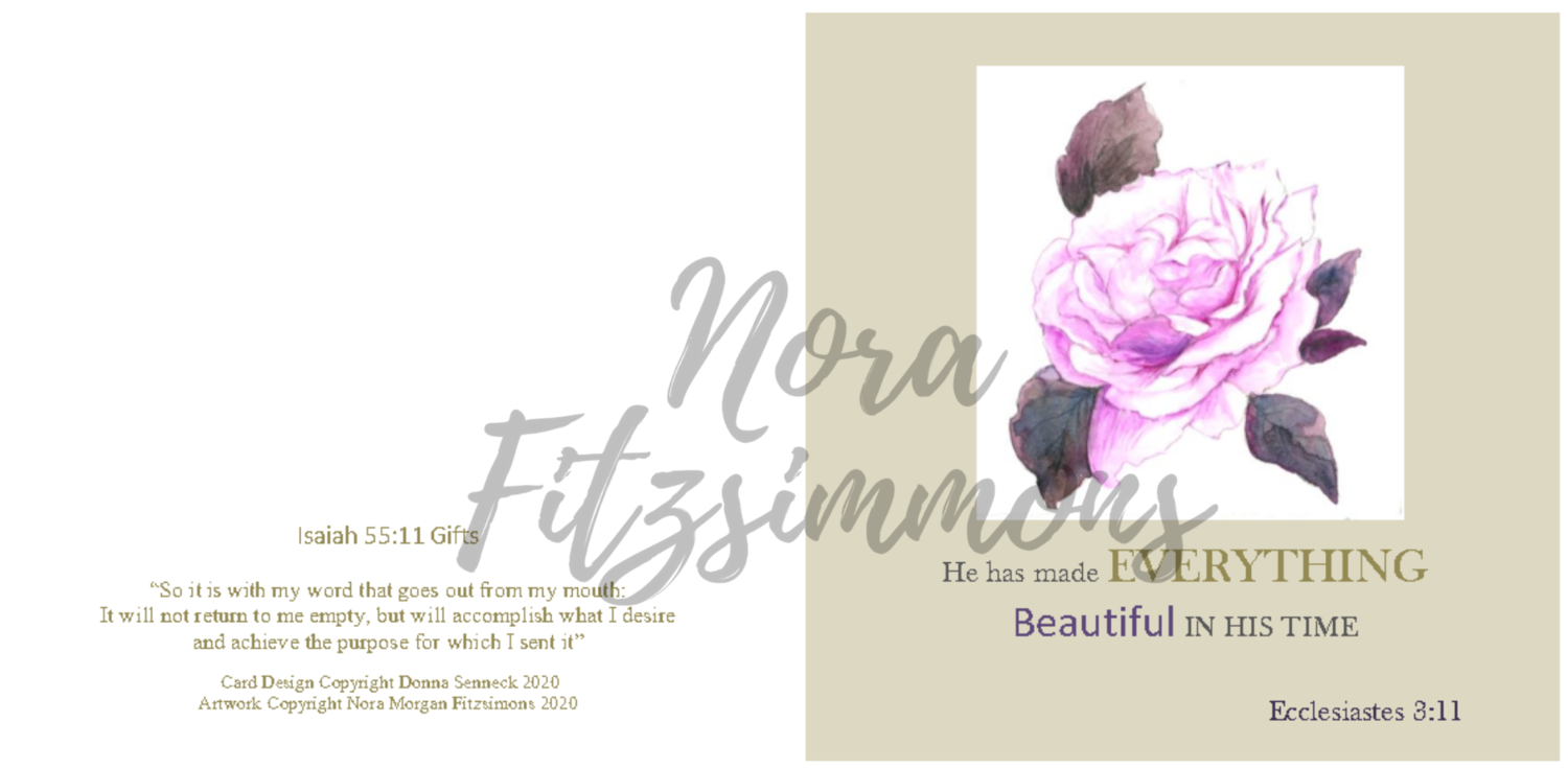 Beautiful In His Time Flower - Faith Card