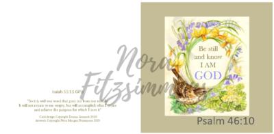 Be Still Wren 3 - Faith Card