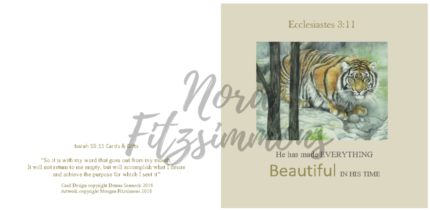Beautiful In His Time Tiger 2 - Faith Card
