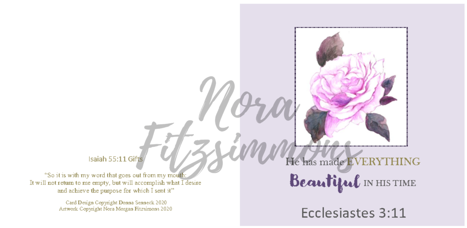 Beautiful In His Time Floral - Faith Card