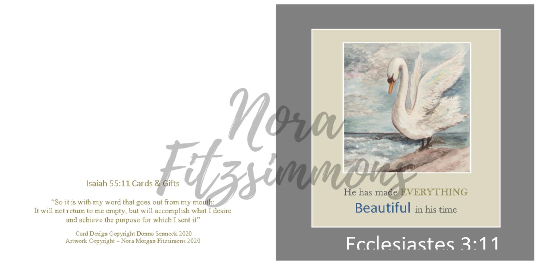 Beautiful In His Time Swan 3 - Faith Card