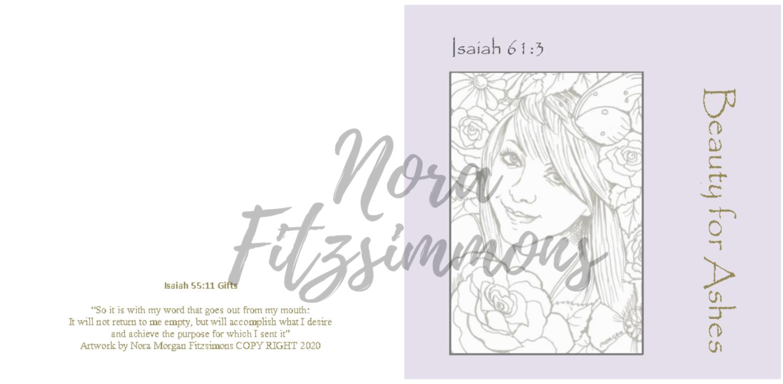 Beauty For Ashes Girl Flowers - Faith Card