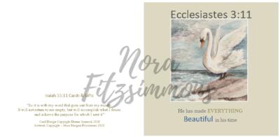Beautiful In His Time Swan 2 - Faith Card