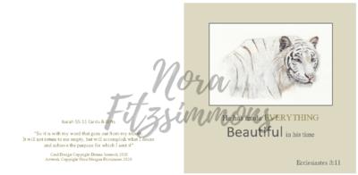 Beautiful In His Time Snow Leopard - Faith Card