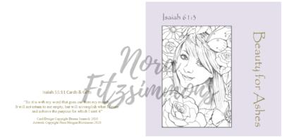 Beauty For Ashes Girl Flowers 2 - Faith Card