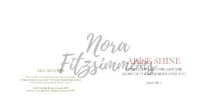 Arise Shine Blank - Faith Card