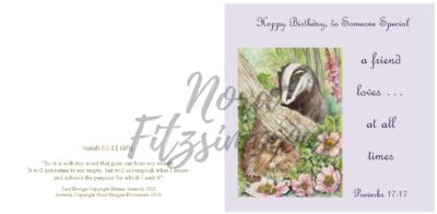 Happy Birthday To Someone Special - Faith Card