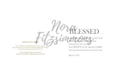Blessed Blank - Faith Card