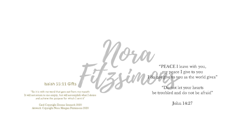 Peace I Leave With You Blank - Faith Card