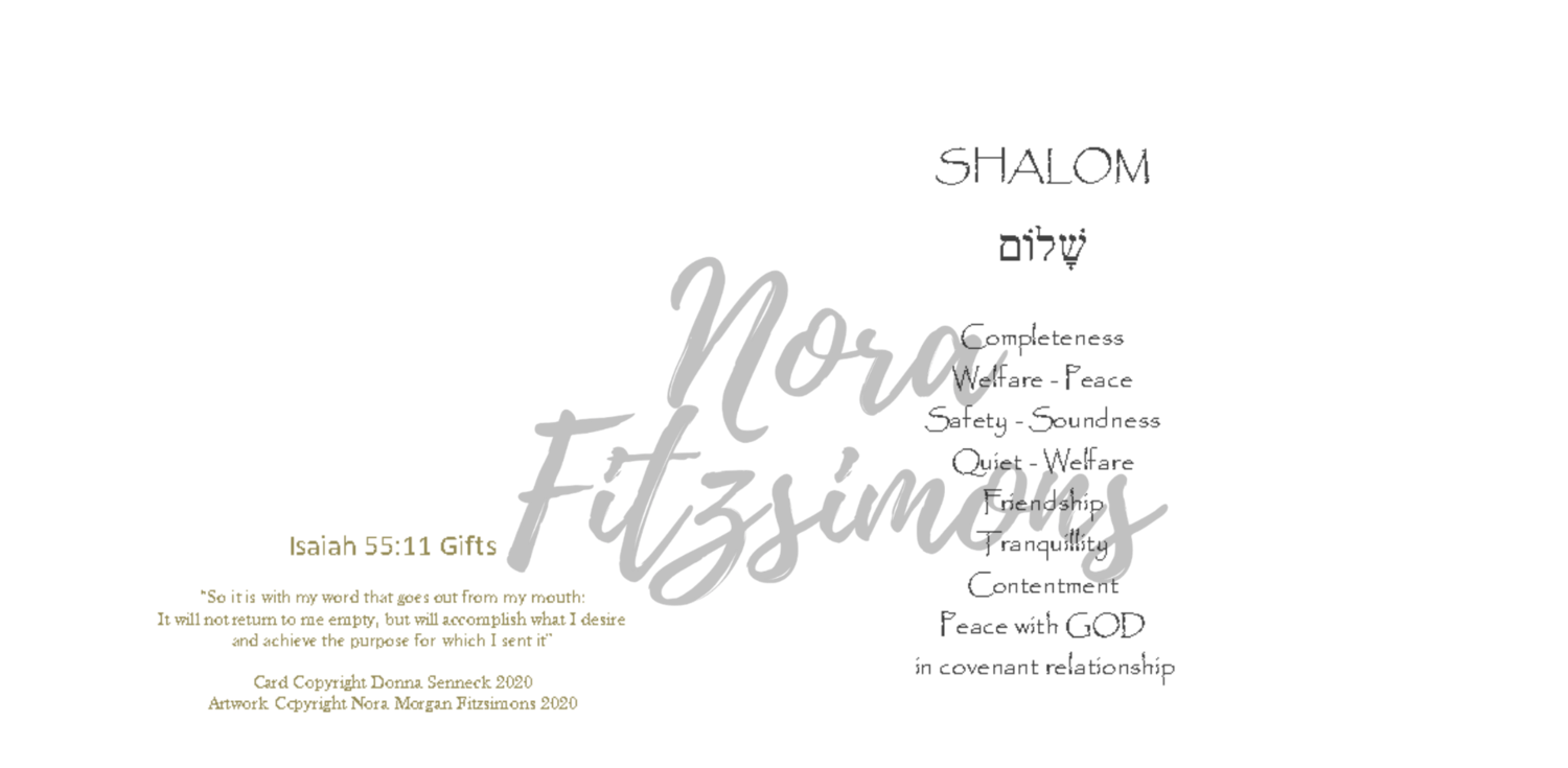 Shalom - Blank - Faith Card