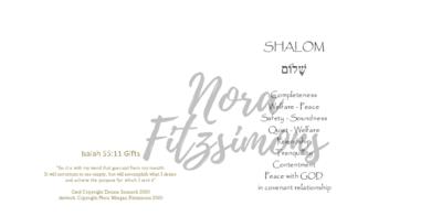 Shalom - Blank - Faith Card