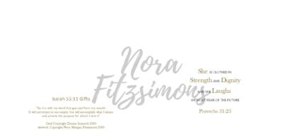 She Is Clothed - Blank - Faith Card