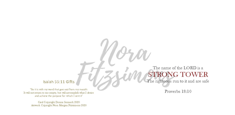 Strong Tower - Blank - Faith Card
