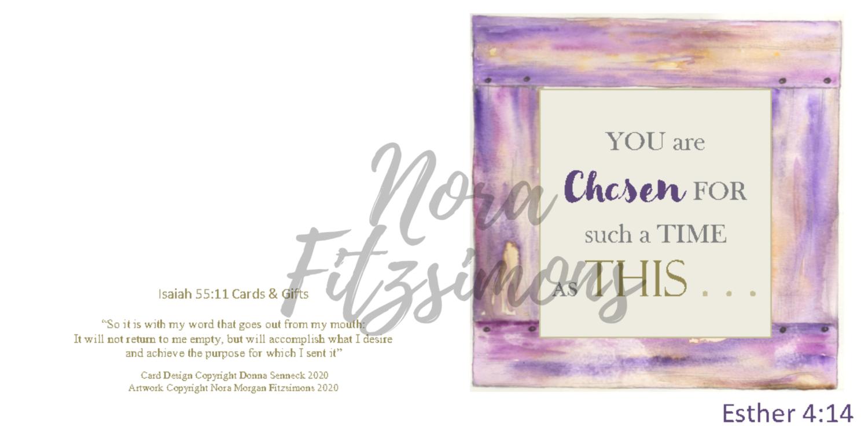 Chosen For Such A Time Like This - Faith Card