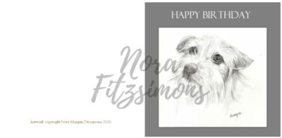 Happy Birthday With A Dog - Faith Card