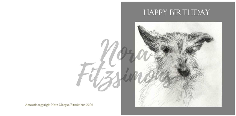 Happy Birthday - Dog - Faith Card