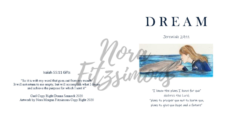 Dream Dolphin And Girl - Faith Card