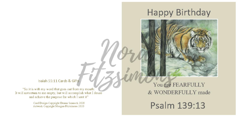 Happy Birthday With A Tiger - Faith Card