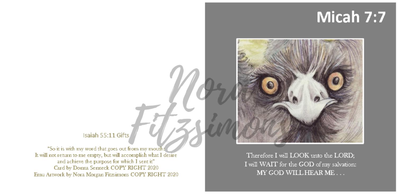 My God Will Hear Me - Faith Card