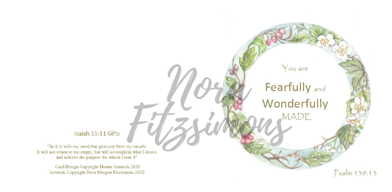 Fearfully and Wonderfully Made Circle Border - Faith Card