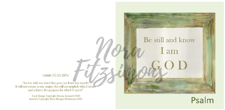 Be Still And Know That I Am God 2 - Faith Card