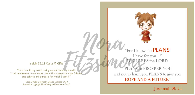 For I Know The Plans Girl - Faith Card