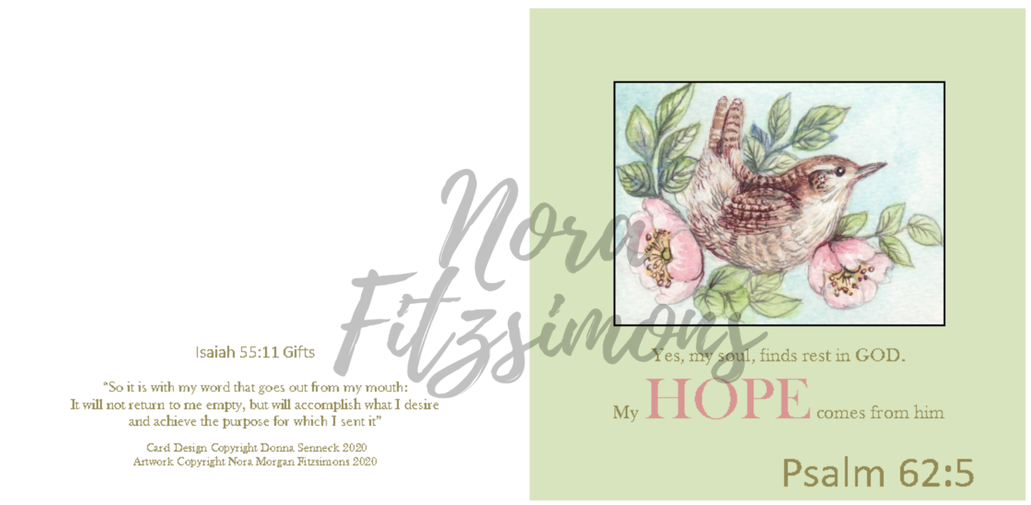 My Hope Comes From Him - Faith Card
