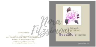 Beautiful In His Name - Faith Card