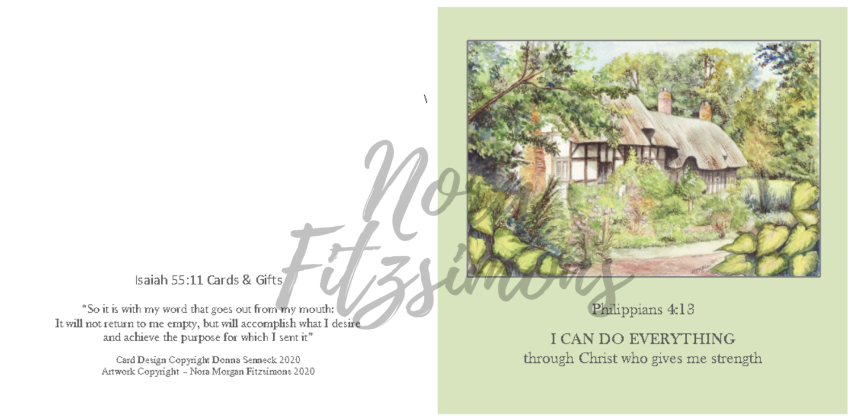 I Can Do Everything Cottage - Faith Card