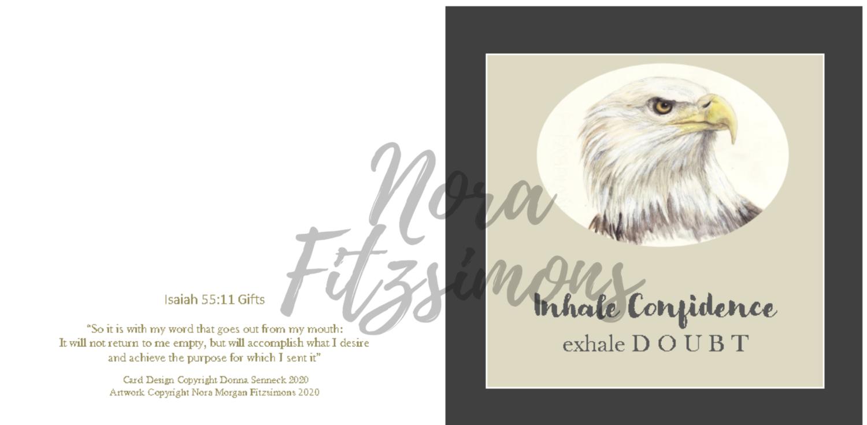 Inhale Confidence Exhale Doubt - Faith Card