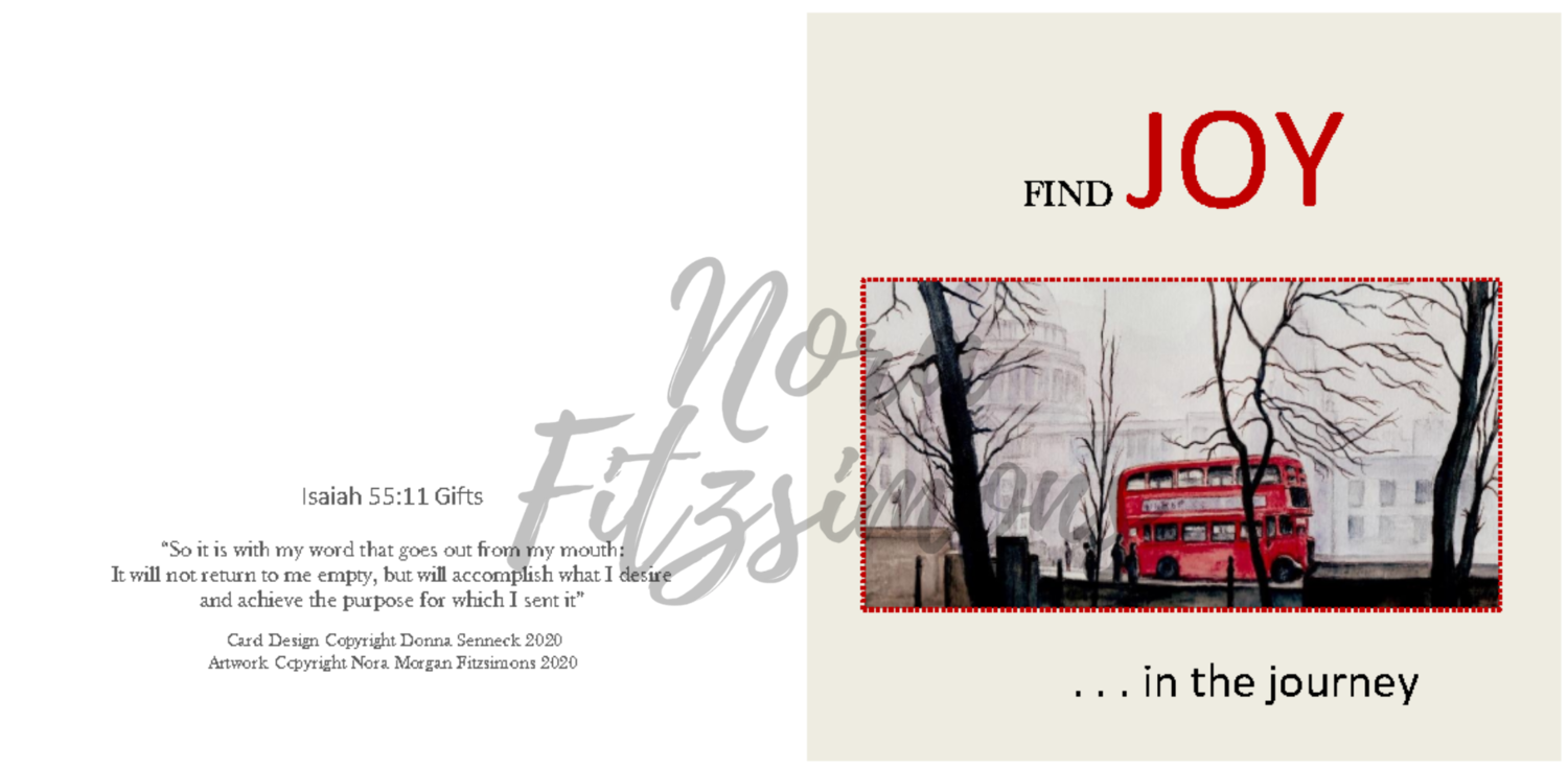 Find Joy In The Journey Red Bus 2 - Faith Card