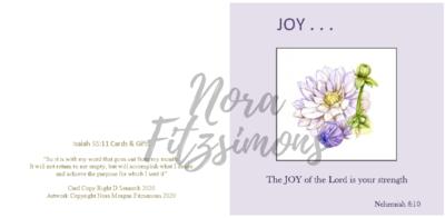 Joy Flower - Faith Card