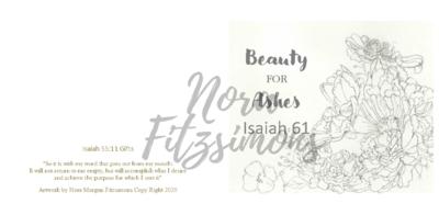 Beauty For Ashes Flowers - Faith Card