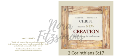 New Creation 2 - Faith Card
