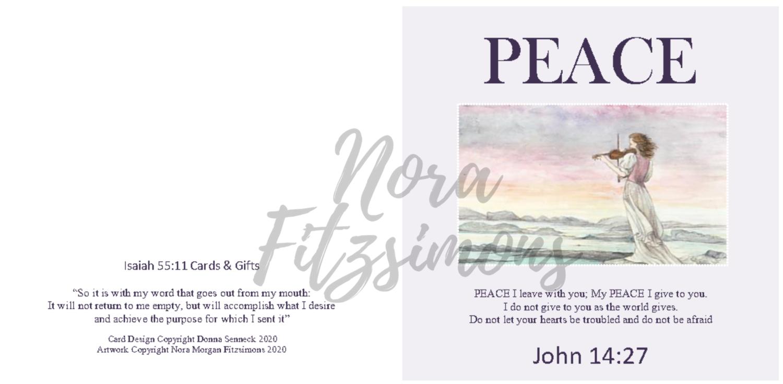 Peace I Leave With You Lady Violin - Faith Card