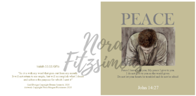 My Peace I Give To You - Faith Card