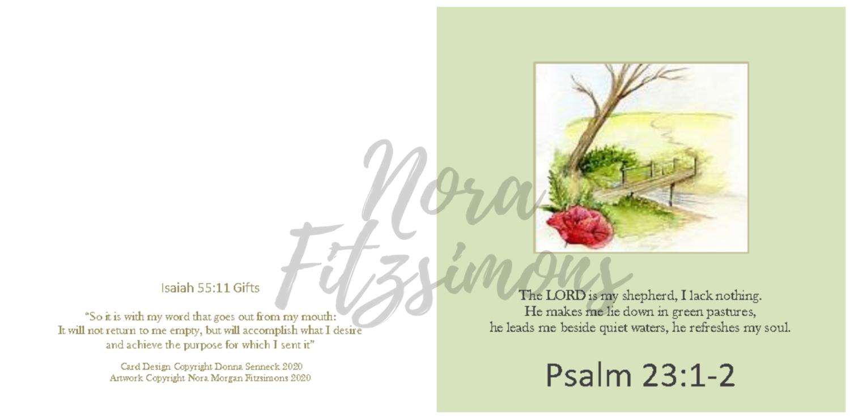 The Lord Is My Shepherd - Faith Card