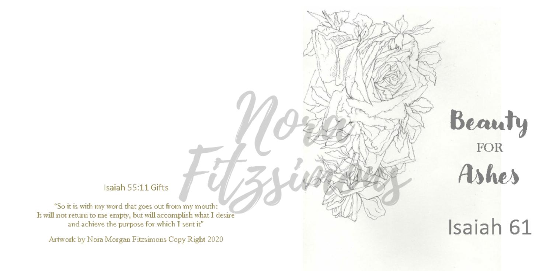 Beauty For Ashes Flowers 2 - Faith Card