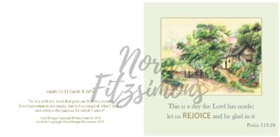 Rejoice Cottage - Faith Card