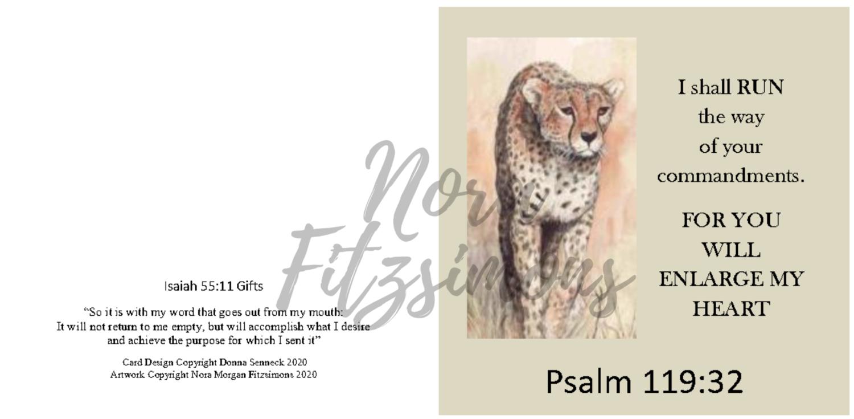 For You Will Enlarge My Heart - Faith Card