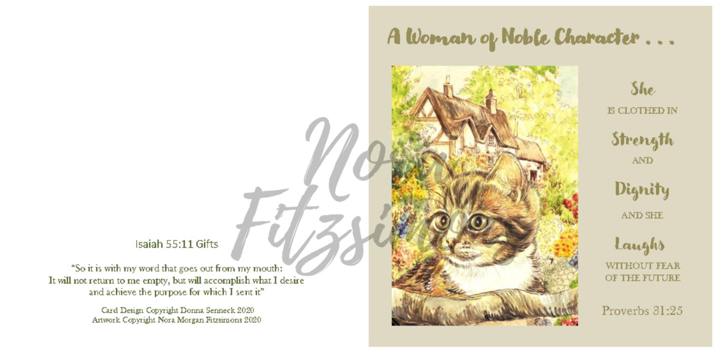 Cat Cottage Flowers - Faith Card