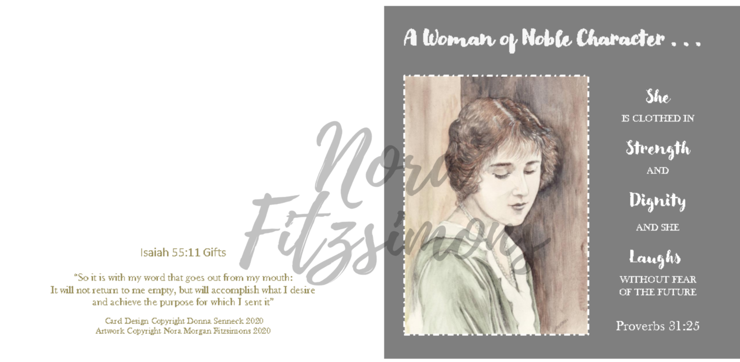 A Woman Of A Nobel Character 2 - Faith Card