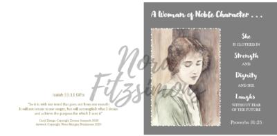 A Woman Of A Nobel Character 2 - Faith Card