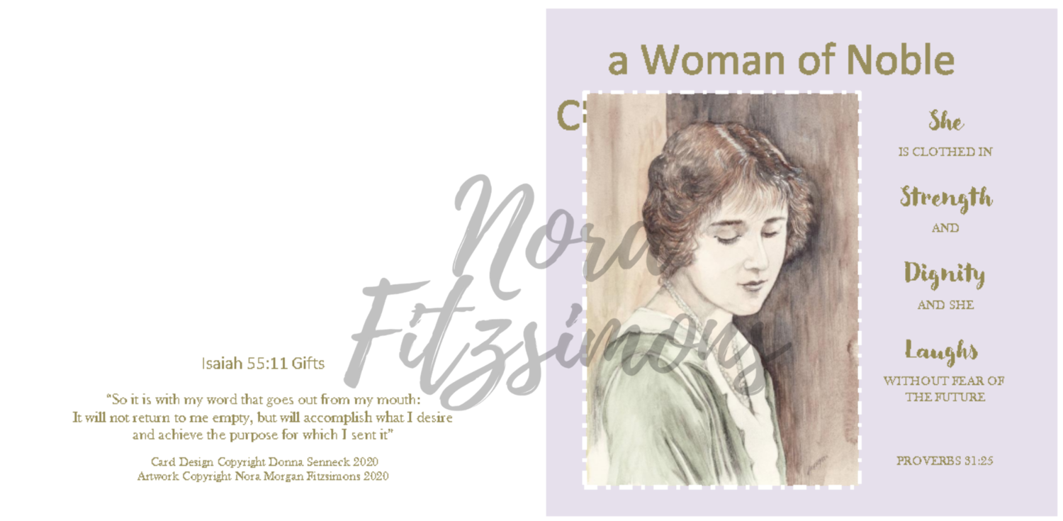 A Woman Of A Nobel Character - Faith Card