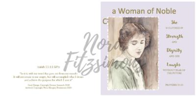 A Woman Of A Nobel Character - Faith Card