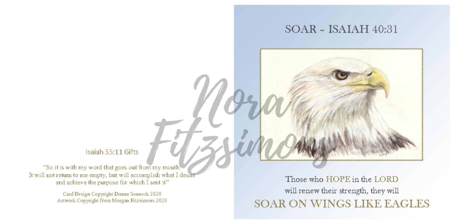 Soar On Wings Like Eagles - Faith Card